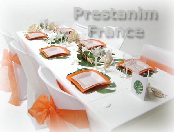Pics Photos - Re Deco Mariage Orange Et Blanc